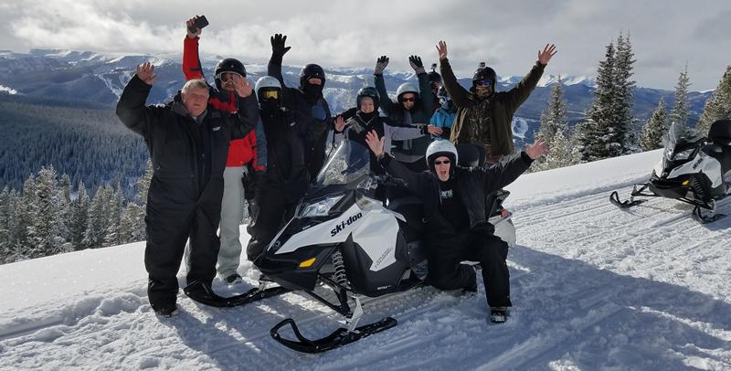 DNN Summit snow mobiling