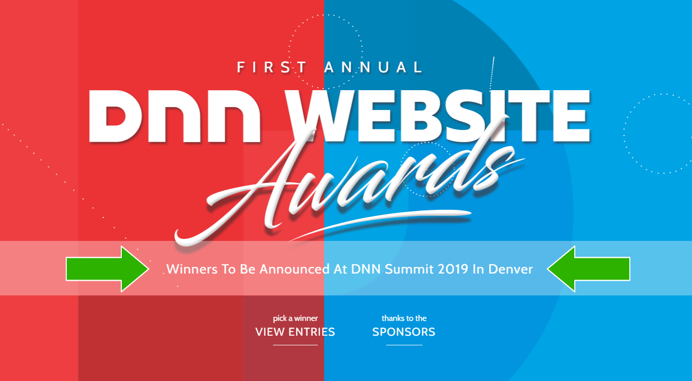 DNN Website Awards screenshot
