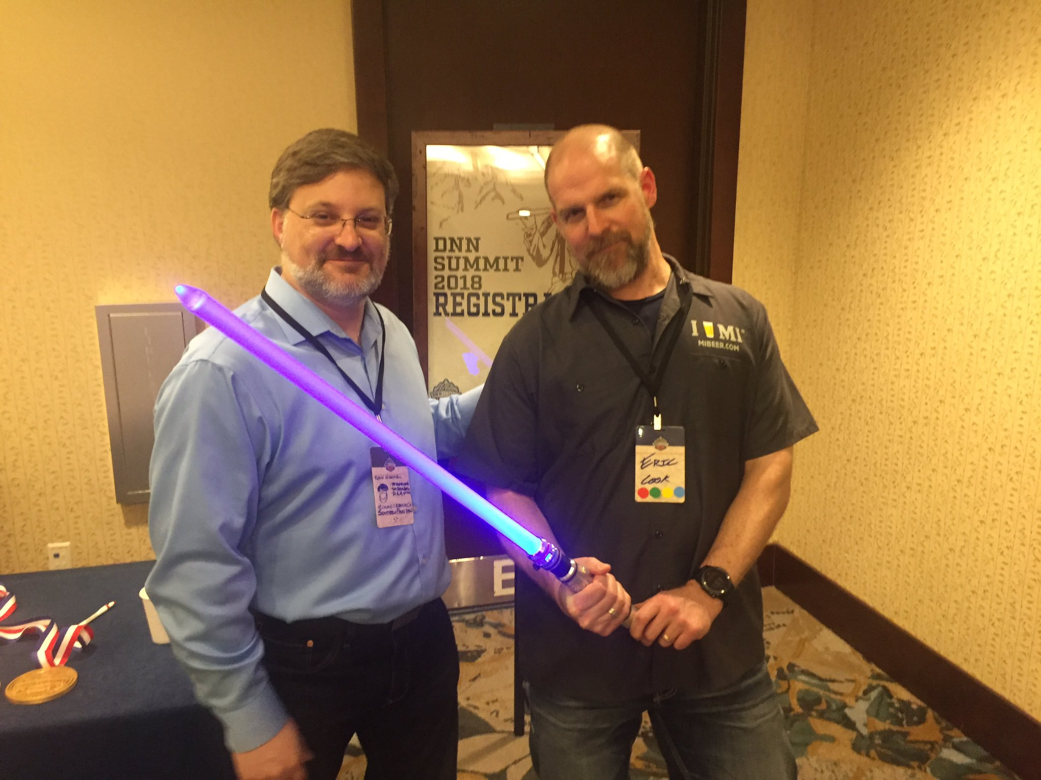 2018 DNN Summit Lightsaber winner Eric Cook